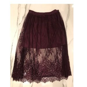 Lace skirt size small